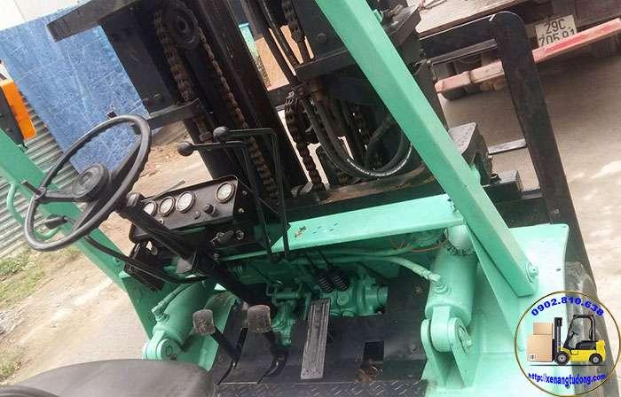hệ thống điều khiển xe nâng dầu cũ mitsubishi 4 tấn