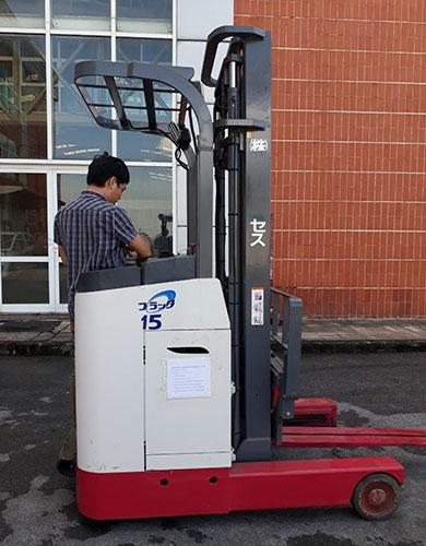 Xe nâng điện đứng lái Nichiyu 1.5 tấn